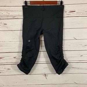 lululemon athletica Pants - Lululemon gray in the flow crop II yoga run pants